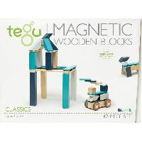 Jeu D'assemblage - De Construction - Manipulation TEGU Classic Pocket 42 Pieces Blues
