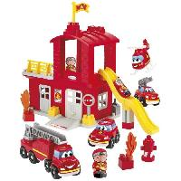 Jeu D'assemblage - Jeu De Construction - Jeu De Manipulation ABRICK Caserne de pompiers - Ecoiffier
