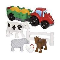 Jeu D'assemblage - Jeu De Construction - Jeu De Manipulation ABRICK Tracteur remorque Fast Car - Ecoiffier