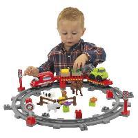 Jeu D'assemblage - Jeu De Construction - Jeu De Manipulation ABRICK le Train de Campagne - Ecoiffier