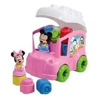 Jeu D'assemblage - Jeu De Construction - Jeu De Manipulation CLEMENTONI Clemmy - Le Bus de Minnie - Cubes souples