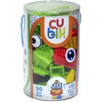 Jeu D'assemblage - Jeu De Construction - Jeu De Manipulation CUBIK Tube construction personnage briques a picots - 50 pieces - Aucune
