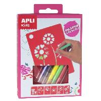 Jeu De Coloriage - Dessin - Pochoir APLI Mini kit pochoirs formes assorties