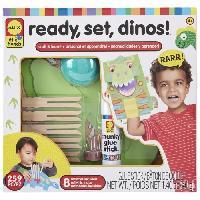 Jeu De Coloriage - Dessin - Pochoir A vos marques - prets - dinosaures ! - A partir de 4 ans