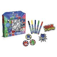 Jeu De Coloriage - Dessin - Pochoir CANAL TOYS - PYJAMASQUE - Patchs a Colorier