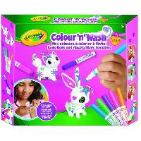 Jeu De Coloriage - Dessin - Pochoir CRAYOLA Color'N'Wash pets - Mes Animaux a Colorier - Kit 1