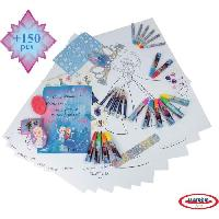 Jeu De Coloriage - Dessin - Pochoir FROZEN - Activitube 150 Pieces - Coloriage - Couronne - Strass - Darpeje