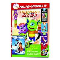 Jeu De Coloriage - Dessin - Pochoir HAPPY RECRE - Pack Coloriage 4D Age de Glace