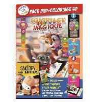 Jeu De Coloriage - Dessin - Pochoir HAPPY RECRE - Pack Coloriage 4D Snoopy