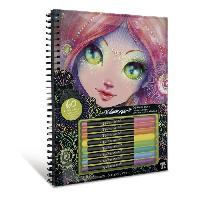 Jeu De Coloriage - Dessin - Pochoir NEBULOUS STARS - Coralia Black Pages Coloring Book - Educa