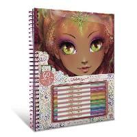 Jeu De Coloriage - Dessin - Pochoir NEBULOUS STARS - Hazelia White Pages Coloring Book