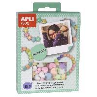 Jeu De Creation De Bijoux APLI Mini kit Faites vos bracelets - Pastel