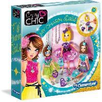 Jeu De Mode - Couture - Stylisme CLEMENTONI Crazy Chic - Pendentifs poupees Charm dolls - Creation bijoux