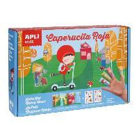 Jeu De Mosaique APLI Boite magic stickers - Le petit chaperon rouge