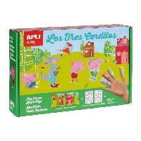 Jeu De Mosaique APLI Boite magic stickers - Les 3 petits cochons