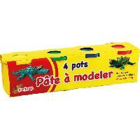 Jeu De Pate A Modeler KIM'PLAY 4 Pots de pate a modeler - 560 g