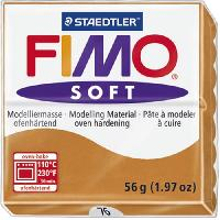 Jeu De Pate Polymere Pate a modeler a cuire Fimo Soft bloc 56 g cognac