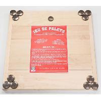Jeu De Quille - Jeu D'anneau - Jeu De Boule - Jeu De Palet MECABOIS Jeu de Palet Complet - 12 plates a lancer et planche en bois -Jeu Breton-