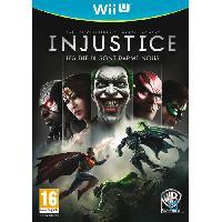Jeu Wii U Injustice Jeu WII U - Warner Games