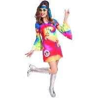 Jeux - Jouets Costume adultes 60's femme Free Spirit taille M
