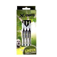 Jeux De Cafe - Bar XQ Max Flechettes de 18 grammes Michael van Gerwen Green Demolisher - 70 tungstene - Pointe soft tip