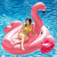 Jeux De Piscine - Jeux Gonflables INTEX Bouee gonflable Flamant Rose Geant - 218 cm