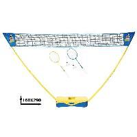 Jeux De Recre - Jeux D'exterieur CDTS Ensemble de Badminton - 2 Raquettes. Cordage. 2 volants. Filet et Boite de Rangement