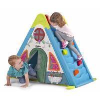 Jeux De Recre - Jeux D'exterieur FEBER - Maison pour Enfant 3 en 1 : Mur. Tente et Tableau