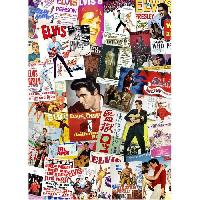 Jeux De Societe AQUARIUS Puzzle 1000 pieces Elvis Film Poster collage - 65334