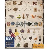 Jeux De Societe AQUARIUS Puzzle 1000 pieces Harry Potter Icones - 65270