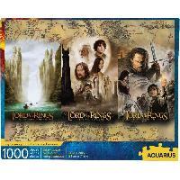 Jeux De Societe AQUARIUS Puzzle 1000 pieces Le Seigneur des Anneaux Triptyque - 65369