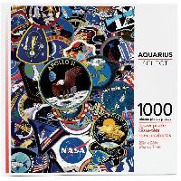 Jeux De Societe AQUARIUS Puzzle 1000 pieces NASA Mission Patches - 62906
