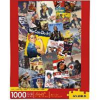 Jeux De Societe AQUARIUS Puzzle 1000 pieces Smithsonian Poster de Guerre - 65374