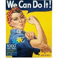 Jeux De Societe AQUARIUS Puzzle 1000 pieces Smithsonian Rosie La Riveteuse - 65260