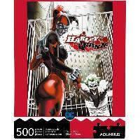 Jeux De Societe AQUARIUS Puzzle 500 pieces DC Comics Harley Quinn & The Joker - 62146