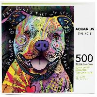 Jeux De Societe AQUARIUS Puzzle 500 pieces Dean Russo Pit Bull - 62502