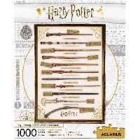 Jeux De Societe Puzzle 1000 pieces Harry Potter Baguettes Magiques - 65345 - AQUARIUS