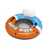 Jeux D'eau - Jeux De Plage BESTWAY Bouée Rapid Rider diametre 135 cm. fond maille filet. dossier. 2 porte-gobelets