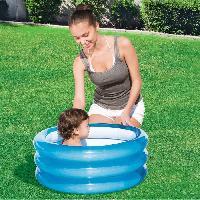 Jeux D'eau - Jeux De Plage BESTWAY Piscinette ronde 3 boudins - Diam 70cm hX 32cm 2 couleurs assorties