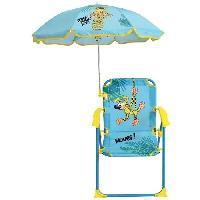 Jeux D'eau - Jeux De Plage MARSUPILAMI Chaise pliante avec parasol ± chaise 53 x 39 x 39 cm. parasol ø 65 cm pour enfant