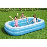 Jeux D'eau - Jeux De Plage Piscine gonflable rectangulaire Bestway 262 x 175 x 51 cm Piscine familiale bleue 54006