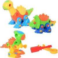 Jeux Scientifiques 3 Dinosaures Articules Roulant - A construire - Mixte - A partir de 3 ans