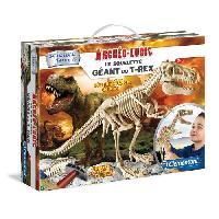 Jeux Scientifiques CLEMENTONI Archéo Ludic - Le Squelette Géant du T-Rex - Science & Jeu