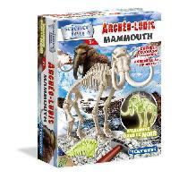 Jeux Scientifiques CLEMENTONI Archéo Ludic - Mammouth Phosphorescent - Science & Jeu