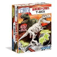 Jeux Scientifiques CLEMENTONI Archéo Ludic - T-Rex Phosphorescent - Science & Jeu