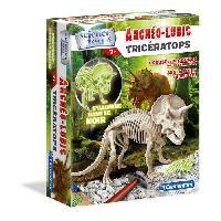 Jeux Scientifiques CLEMENTONI Archéo Ludic - Tricératops Phosphorescent - Science & Jeu