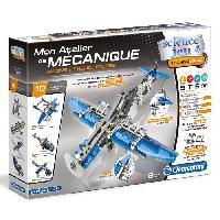 Jeux Scientifiques CLEMENTONI Mon Atelier de Mécanique - Avions et hélicopteres