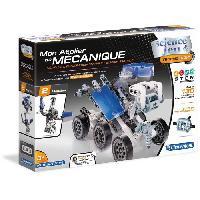 Jeux Scientifiques CLEMENTONI Mon Atelier de Mécanique - Robot lunaire & Station spatiale