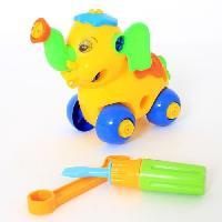 Jeux Scientifiques Elephant et Tortue Roulant - A construire - Mixte - A partir de 3 ans - 15 cm