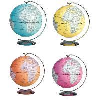 Jeux Scientifiques Mini globe lumineux suspendu Deco D13 cm - 4 coloris assortis